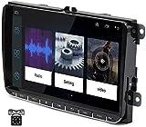 Android 8.1 [1GB+16GB] 9 Pulgadas Radio Coche con Pantalla 2 DIN para VW, Seat, Skoda Autoradio para VW con 4G/WiFi/GPS/Bluetooth/RDS/USB/FM Am/ Admite Mandos del Volante con Camara Trasera