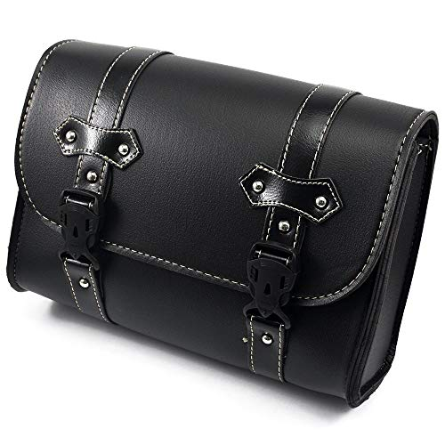 Motorcycle bag Black Saddle Bags PU Leather Motorbike Side Tool Pouch Tail Bag Luggage Sport bag