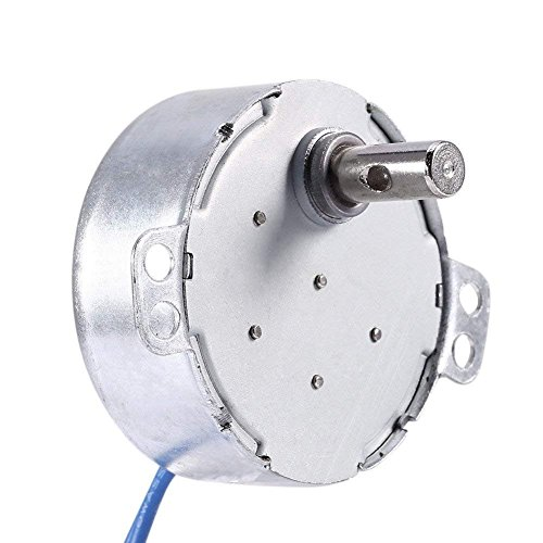 2PCS Synchronous Synchron Motor 50/60Hz AC 100~127V 4W 2.5-3RPM/MIN CCW/CW For Hand-Made, School Project, Model or Guide Motor (2.5-3RPM)