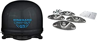 Winegard GM-9035 Carryout G3 Portable Automatic Satellite Antenna with Dish Playmaker Roof Mount Kit