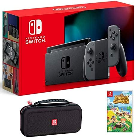 Nintendo Switch Bundle w Game Case Nintendo Switch 32GB Console with Gray Joy Con Animal Crossing product image