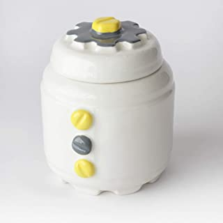 Zuccheriera in Ceramica artigianale, Disponibili più colori, design meccanico con ingranaggi e bulloni – h 10,5 x Ø 8cm (G...