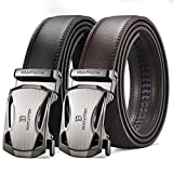 BOSTANTEN 2 piezas Cinturón Cuero Para Hombres Piel Cinturones hebilla automática Men's Belt Set