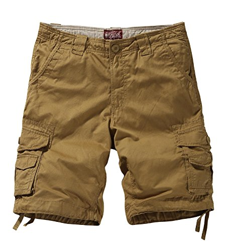 Match Men's Twill Comfort Cargo Short Without Belt #S3612 (Label size 2XL/36 (US 34), Khaki)