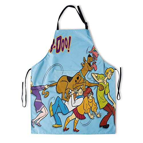 WINTERSUNNY Scooby Doo Apron With Pockets Waterproof Durable Adjustable Kitchen Apron for Cooking Baking Painting Gardening Men and Women