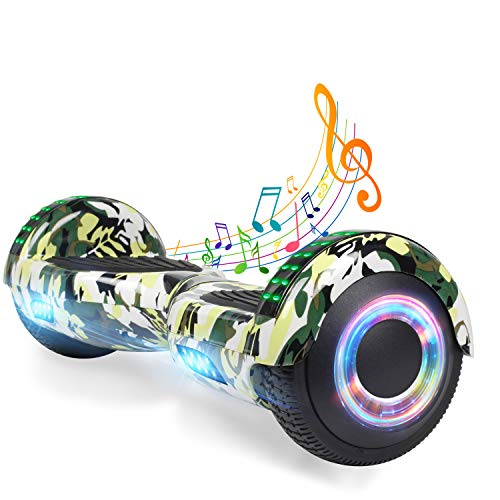 Read About YHR 6.5 Inch Hoverboard with Bluetooth W/Speaker, LED Wheels and LED Lights for Kids and ...