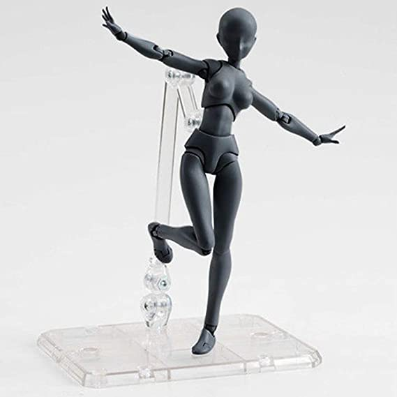 COPYLOVE Figure Model PVC Action Figure Drawing Models Figure Artist Draw Painting Model Mannequin Jointed Doll Black Female Drawing Mannequin Figure Models for Artists