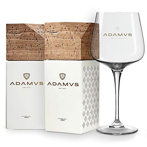 La ginebra orgánica - 2 Botellas + Adamus Vaso