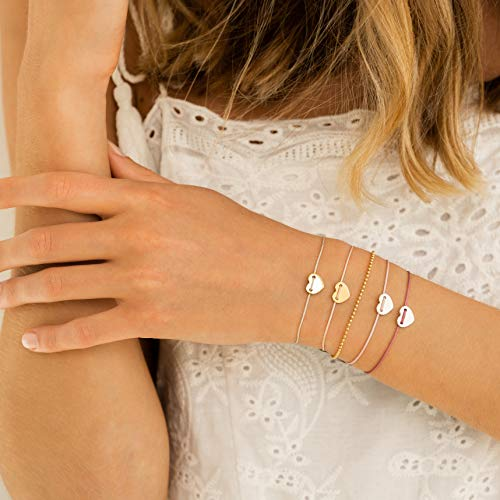 iz-el Armband 925 silber vergoldet Herz Geburtstag