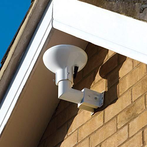 Antenne TV Exterieur TNT Amplifiée Puissante Omnidirectionnelle 360° avec Filtre 4G LTE pour HD/DVB-T/VHF/UHF, Numérique et Analogique, Kit Complet