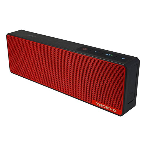 TECEVO T9 Slimline Bluetooth Wireless Speaker Powerful Sound With Built-in Microphone, NFC Technology Enabled, Splash Proof, AUX Line-in - Black