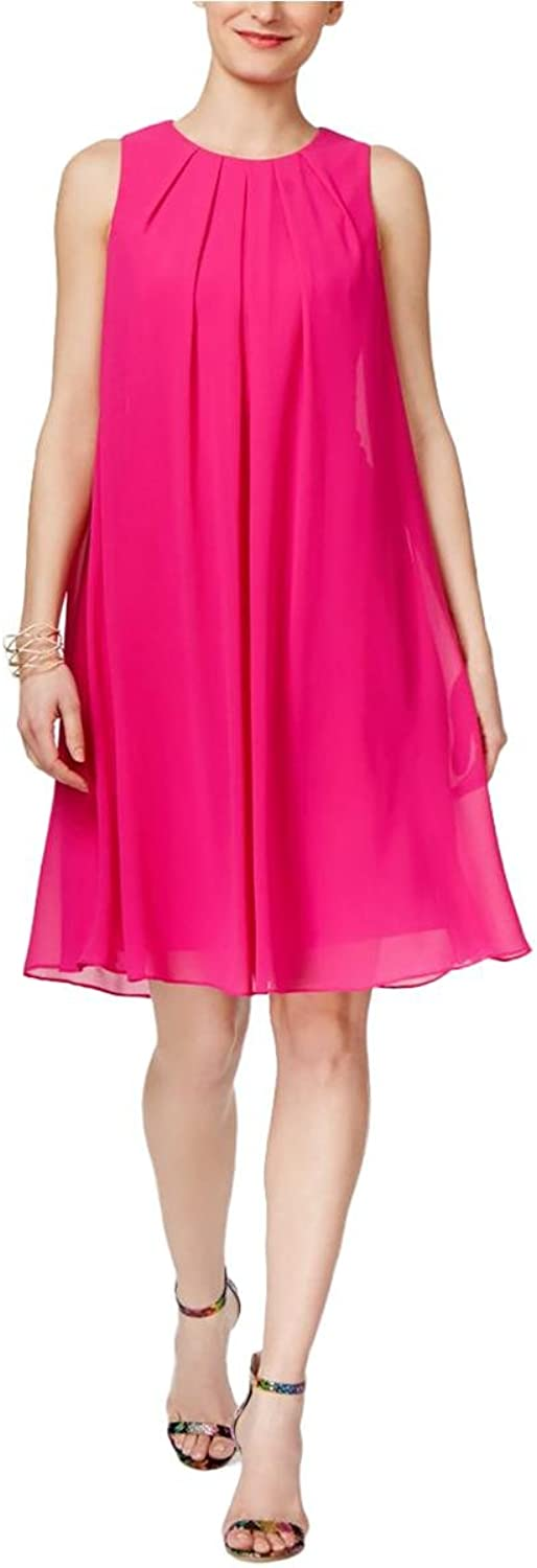 Inc Womens Crepe Pleated Party Dress