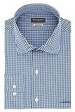 Van Heusen mens Regular Fit Flex Collar Check Dress Shirt, Midnight, 17.5 Neck 36 -37 Sleeve X-Large US
