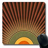 Luancrop Alfombrillas para computadoras Ray Brown 90S Retro Abstract Radio 50S Waves Green Pattern Music 80S Half Dot Antideslizante Oblong Gaming Mouse Pad