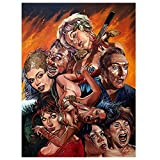 AXKQ DIY diamond painting embroidery set horror movie pictures, full round resin diamond cross stitch Halloween decoration ornaments(23.6x35.4inch)