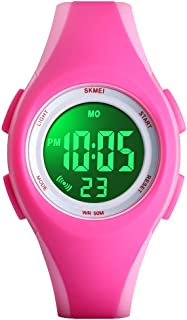 PASNEW Kids Watches Colorful Cool Waterproof Digital Watch,Suitable for Children Aged 6 or Over