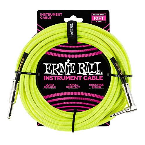 Ernie Ball - Cavo per strumenti, 3 m, colore: giallo fluo