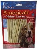 Pet Factory 28054 American Beef-Hide Premium Twist Sticks, 5-Inch, 25-Pack