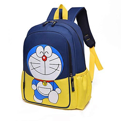 Mochilas Escolares de Nailon con Estampado de Dibujos Animados para niños Mochila de Ocio de Gran Capacidad Mochila Linda de Ocio para Campus-Doraemon Amarillo