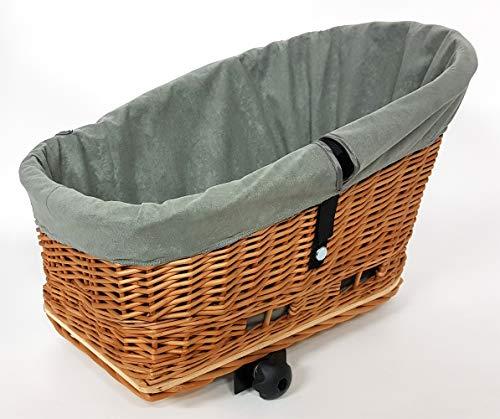 Tigana Stoffeinlage Einlage für Fahrradkörbe Gepäckträger in Grau - G1 (für Korb XXL)