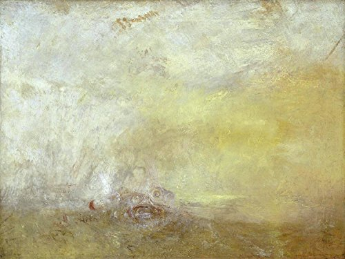 ODSAN Sunrise With Sea Monsters - By Joseph Mallord William Turner - Impresión en lienzo 20x15 pulgadas - sin marco