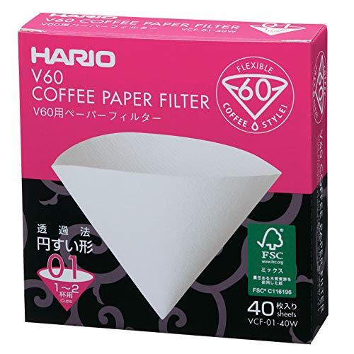 Hario VCF-01 100M Papierfilter,weiß, Größe 01-40 Stück