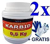bri'X24T'you® KARBID 1,00KG bis 2,500KG+Handschuhe(1x) Premium KARBID***** Firma BRIN'X(Abfl.Ql.Rg.1030/110719)*Alt Bewährt und sehr Ergiebig(1,00KG)