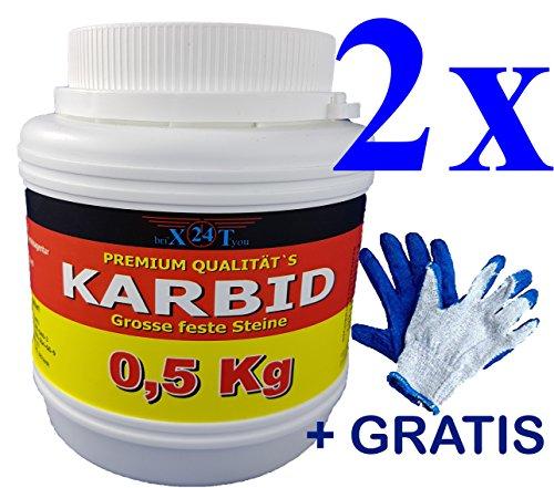 bri\'X24T\'you Karbid 1.00KG Premium KARBID(1A.Ql.Rg.290601) 8*UNERREICHT in QUALITÄT & WIRKUNGsDauer*Feste große Steine mit Langzeitwirkung(1,00KG)