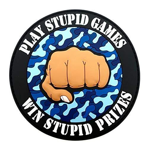 Polizeimemesshop Play Stupid Games Win Stupid Prizes Rubber Patch mit Klett