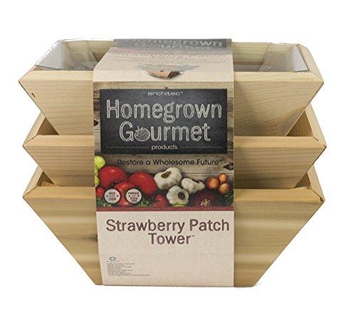 oder hoteleigenen Gourmet Strawberry Patch Tower Pflanzkasten, Holz Box, Set von 3