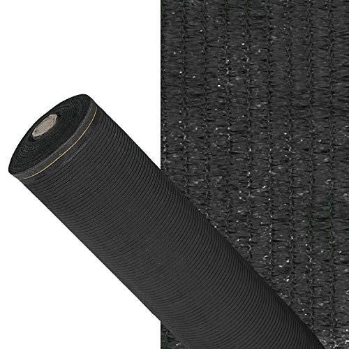 PAPILLON Malla Sombreo 90%, Rollo 2 x 50 metros, Reduce Radiación, Protección Jardín y Terraza, Regula Temperatura, Color Negro