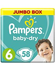 Pampers Baby-Dry, Size 6, Extra Large, 13+ kg, Jumbo Box, 58 Diapers