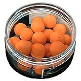 Cikuso 1 Box Riechen Pop up Fischkoeder Boilies Schwimmende Karpfen Koeder Loeslich in Wasser Orangen-Mandarine 14mm