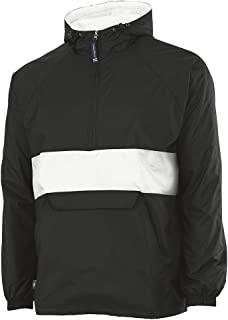 f14c30cbab446 Charles River Apparel Unisex-Adult's Wind & Water-Resistant Pullover Rain  Jacket (Reg