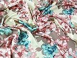 John Kaldor Blütenmuster Slinky Satin Kleid Stoff