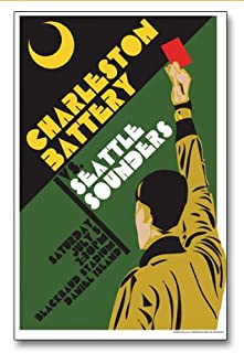 ECHO-LIT Charleston Battery vs. Seattle Sounders II USL Event Soccer Poster