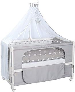 roba beistellbett roba Beistellbett, Roombed, Babybett, Anstellbett zum Elternbett mit kompletter Ausstattung, weiß