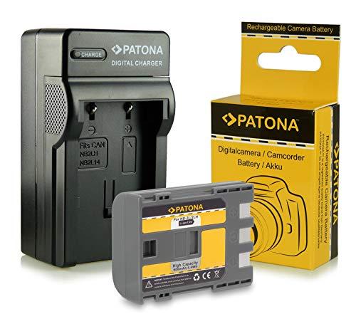 PATONA Set 3in1 Ladegerät + Akku NB-2L / BP-2L5 kompatibel mit Canon PowerShot G7 G9 EOS 350D 400D MV800 MV830 MV850i