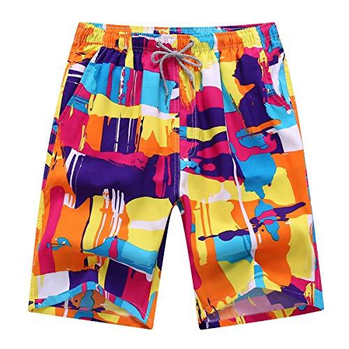 HaiDean Mannen Mannen Zwemmen Moderne Zwemshorts Strand Trunks Casual Bermuda Shorts Slim Fit Zwembroek Jongens