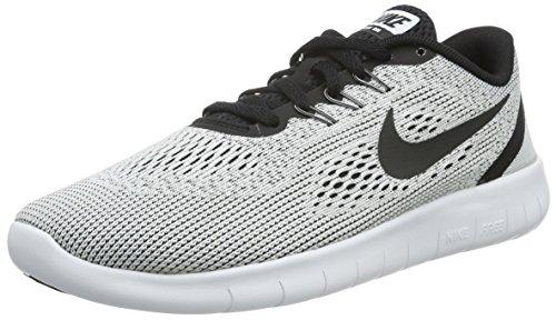 Nike Nike Unisex-Kinder Free Run Laufschuhe, Weiß (White/Black), 37.5