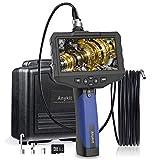 Anykit Endoscope Industriel Portable étanche avec écran 4.5' IPS Couleur HD 1080p Batterie 2600 mAh Sonde d'inspection Serpent avec 6 lumières LED réglables. (5.5mm/3M)