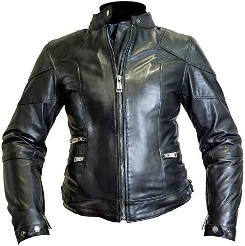 Helstons Motorradjacke mit Protektoren Motorrad Jacke Pat Damen Lederjacke schwarz M, Chopper/Cruiser, Ganzjährig