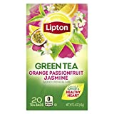 Lipton Green Tea Bags Flavored with Other Natural Flavors Orange...