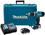 Makita DHP453SYE Combo Rotomartillo Atornillador 1/2' V.V.R, 2 Velocidades 0-400/0-1500 Rpm y...