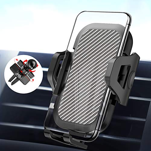 LeYi Porta Cellulare da Auto 360 Gradi di Rotazione Supporto Smartphone per Auto [Versione Migliorata 2 Clip] Porta Telefono GPS Auto Universale per iPhone 11/8/7/6/SE,Samsung,Huawei,Xiaomi,Sony
