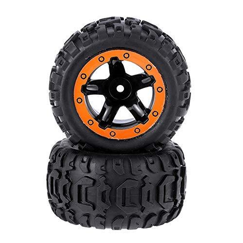 YNSHOU Accesorios de Juguete 2 Piezas de neumáticos y Ruedas, Llantas, Accesorios de Coches de Control Remoto para HBX 16889 1/16, Piezas de Repuesto de vehículos RC