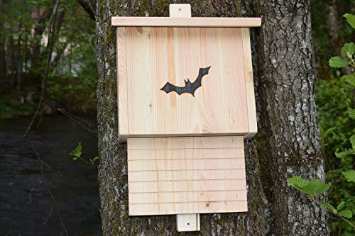 Sauggrundel Fledermauskasten Mit Brandzeichen ohne Schrift