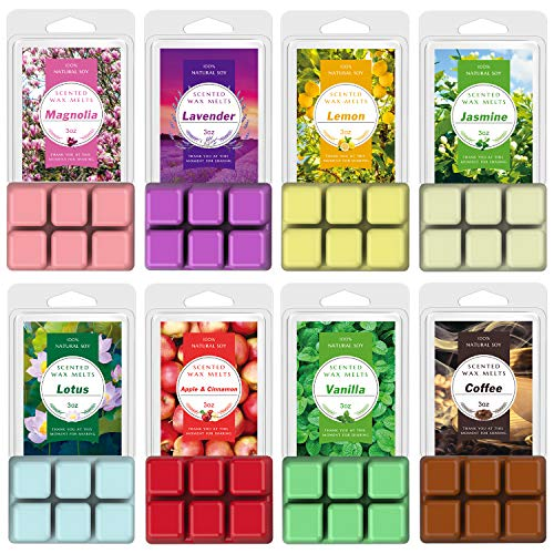 Hausware Scented Wax Melts Wax Cubes, 8×3oz. Soy Wax Warmer Cubes/Tarts Gain Original Scent (8 Packs, 3 oz Each)