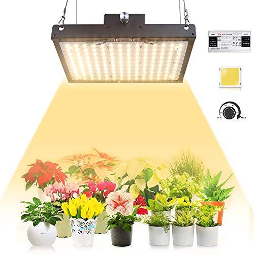 Pflanzenlampe LED Grow Lampe PDGROW Pflanzenlicht Sonnenähnliche Vollspektrum Wachstumslampe mit 140pcs Samsung LM301B LED Chips & Dimmbar Mean Well Driver für Zimmerpflanzen, Gemüse, Blume
