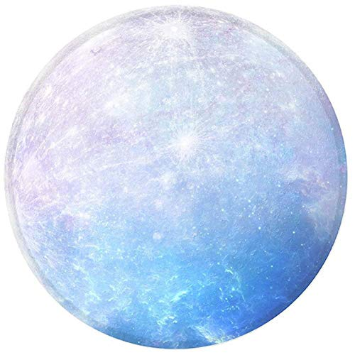 Round Mouse Pad by MHERE,Small Round Blue Purple Galaxy Customized Round Non-Slip Rubber Mousepad Gaming Mouse Pad 7.8'X7.8' inch (Blue Starry Sky)